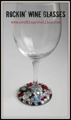DIY Rockin' Wine Glasses