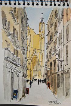 Barcelona. Carrer Argenteria. Iglesia de Santa María del Mar by Txema Raudona, via Flickr