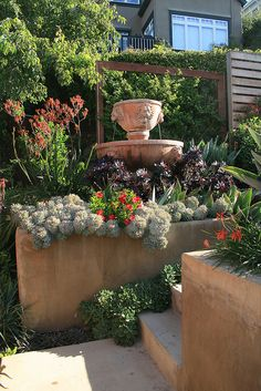 Steps and Retaining walls needn't be boring by anniesannuals, via Flickr
