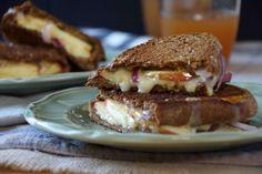 Apple, Onion & Sharp Cheddar Grilled Cheese Sandwich