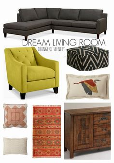 eclectic living room design sectional chartreuse change of scenery
