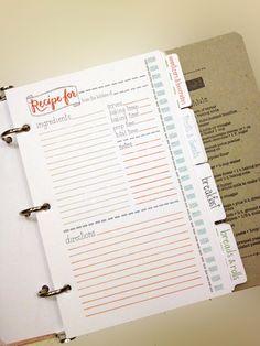 Recipe binder