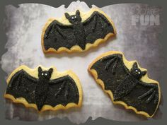 Halloween Bats Cookies - Cake Central Community