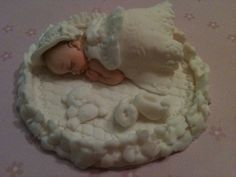 Baby with Whire Dress Gown by anafeke on Etsy. $18.00 USD, via Etsy.