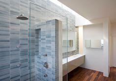 Blue Bathroom with Heath Tile in Medium Plenty House, Remodelista