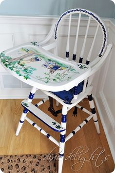 Painted High Chair