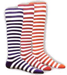 girl camp, camp idea, camp sock, yw camp, stripe sock