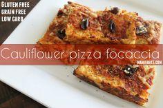 Cauliflower Pizza Foccacia (low carb gluten free)