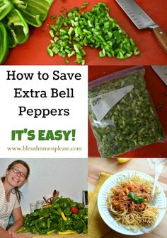 How to save green peppers, the best and easiest way from www.blessthismessplease.com
