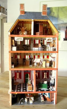 paper modell of Rembrandt's house in Amsterdam