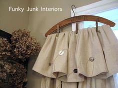 decor, idea, craft, handmade home, drop cloth, dropcloth curtains, funky junk, donna handmad, homes