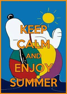 Keep calm Snoopy summer