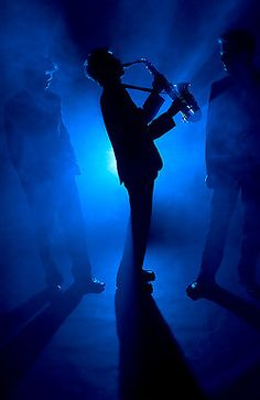 jazz night, silhouett, saxophone blues, music color, jazz band