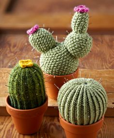 Inspiration for those of us who are better at knitting than at keeping plants alive! Pattern from Simply Knitting issue 109