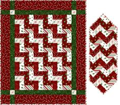 Download Peppermint free quilt and table runner patterns by Maywood Studios