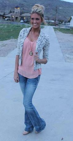 Lace Blazer. Flare Jeans. Teen Fashion. By-Iheartfashion14   →follow←
