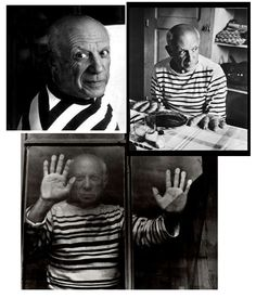 Picasso in His Striped Shirts