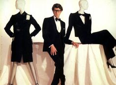 Yves Saint Laurent, his famous smoking.