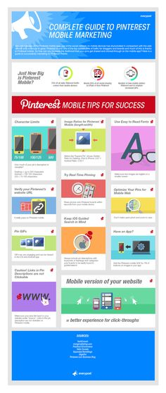 Tips for more effective #Pinterest mobile marketing.  For more Pinterest tips, follow #PinterestFAQ, curated by  #JosephKLeveneFineArtLtd     https://pinterest.com/jklfa/pinterest-faq/