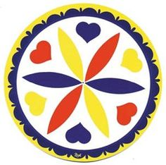 Pennsylvania Dutch hex signs are painted on barns to ward off negative intent and energy