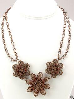 Jewelry Making Idea: Vintage Illuminated Bib Necklace (eebeads.com)