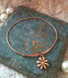 Alex and ani Inspired Flower Charm Bangle by GrecoGirlJewelry, $10.00