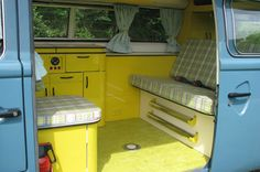 Yellow interior vw camper