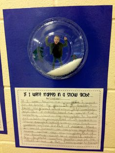 Creative Writing - Trapped in a Snow Globe! Use a clear plastic bowl for the globe and Epsom salt for the snow.