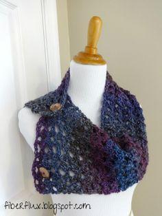 Fiber Flux...Adventures in Stitching: Free Crochet Pattern...Estelle Button Cowl!