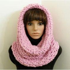 Free Crochet Hooded Scarf Pattern | Chunky Tunnel Cowl/Hood - Crochet Pattern - Planet Purl