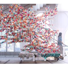 Confetti System installation for NYC Makers exhibition at MAD Museum