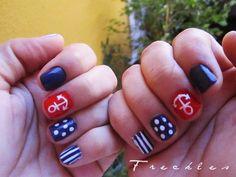 Nautical Nails   mi diseño de uñas de marinero.