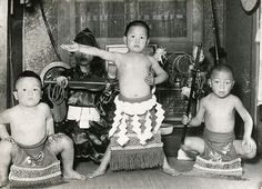 Young boys in a sumo competition