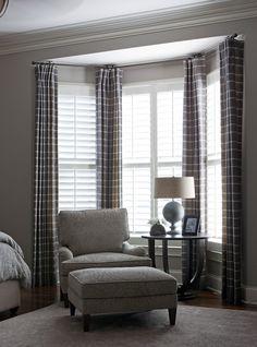bay window curtains.