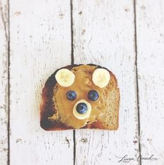 snack on: peanut butter and banana toast.