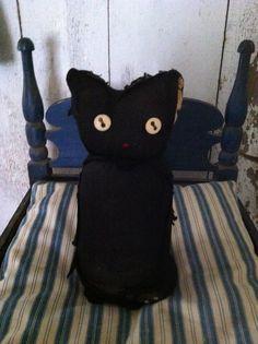 "Primitive Sock ""Black Cat""! Me & Savannah could make these!!"