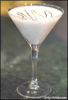 The Polar Bear Martini made with Godiva White Chocolate Liqueur