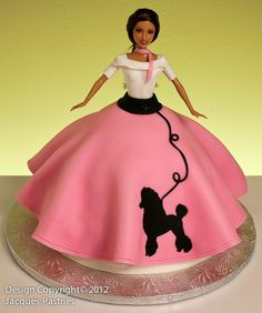 Poodle Skirt Barbie Cake