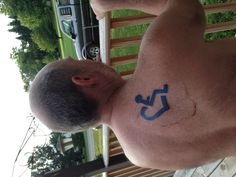 Wheelchair Heart Tattoo