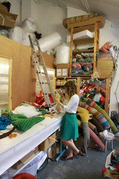 in donna wilson studio (photo meyer lavigne) studio photos, studios, studio crush, wilson studio, donna wilson