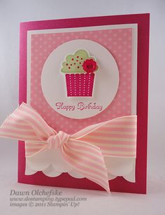 Frilly Cupcake Card by dostamping - Cards and Paper Crafts at Splitcoaststampers