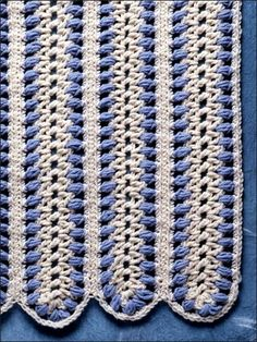 """This easy crochet afghan project measures 46 1/2"""" x 63"""". Afghan crocheted using worsted yarn.  Skill Level: Easy  Designed by Jan Hatfield"""