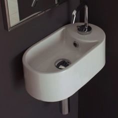 9 inches deep! $283. Scarabeo by Nameeks Seventy 41 Above Counter or Wall Mounted Single Hole Bathroom Sink in White