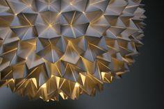 folded paper light