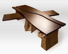 "Custom Made Partners Desk ""A River Runs Through It""by shamrock fine woodworking"