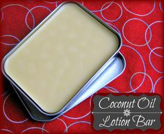 DIY: coconut oil lotion bar