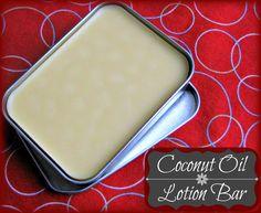 DIY Coconut Oil Lotion Bar