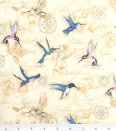 Susan Winget All a Flutter Bird fabric