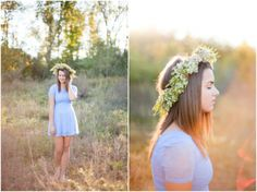 Leigh Elizabeth Photography // want to do a sunset senior girl shoot with flower crown!
