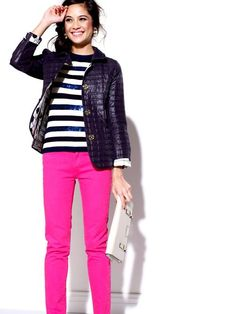 I'd die for hot pink pants right now!